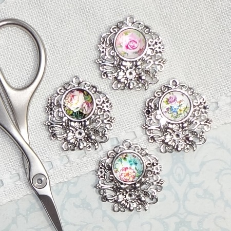 Specialty Assorted Floral Needle Minders