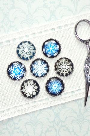 Assorted Snowflakes Needle Minders